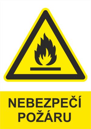 Výstraha Nebezpečí požáru