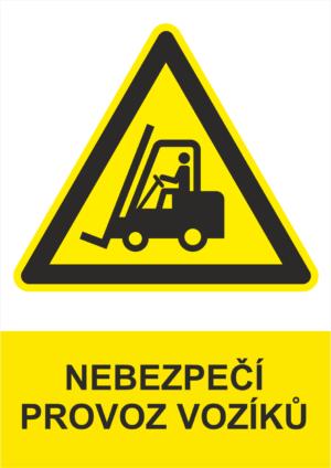Výstraha Pozor vozíky