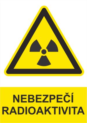 Výstraha Radioaktivní látky