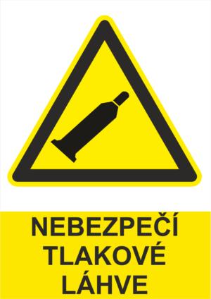 Výstraha Tlakové láhve