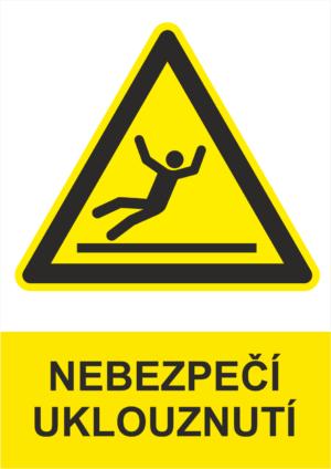 Výstraha Nebezpečí uklouznutí