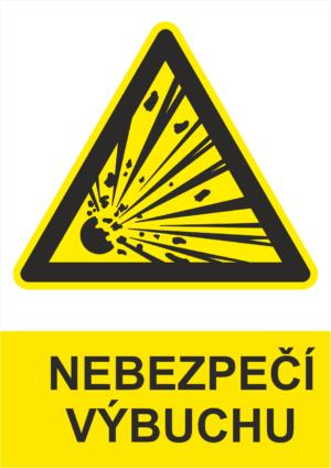 Výstraha Nebezpečí výbuchu