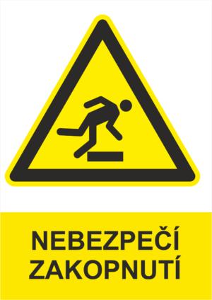 Výstraha Nebezpečí zakopnutí