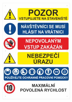 Označení staveniště