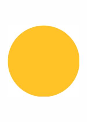 Podlahové pásy a značky - Označení schodů: Žlutý kruh PermaLean