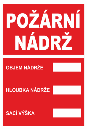 Požární tabulky Text bez symbolu