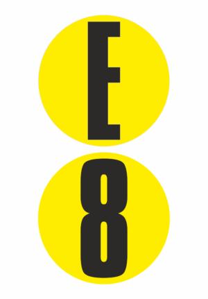 Čísla a písmena na samolepicí fólii PVC - podlahové