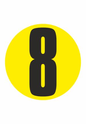 Čísla na samolepicí fólii PVC - podlahové