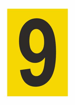 Čísla - tisk na samolepicí fólii PVC