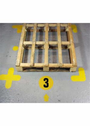 Podlahové paletové skladové značení