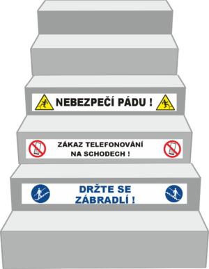 Bezpečnostní označení podstupnice schodu